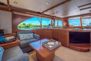 87' Feadship Yacht Fisherman 1985 Salon Seating Looking Forward Portside