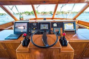 87' Feadship Yacht Fisherman 1985 Helm Detail