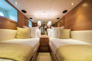 87' Feadship Yacht Fisherman 1985 Portside Guest Cabin Looking Forward