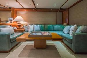 87' Feadship Yacht Fisherman 1985 Salon Settee to Starboard