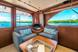87' Feadship Yacht Fisherman 1985 Salon Seating Looking Aft to Port