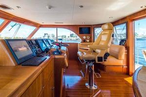 87' Feadship Yacht Fisherman 1985 Helm Looking to Starboard