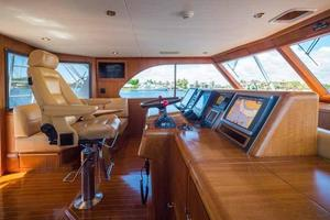 87' Feadship Yacht Fisherman 1985 Helm Looking to Port