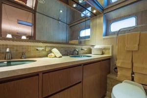 87' Feadship Yacht Fisherman 1985 Portside Guest Cabin Head