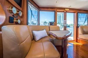 87' Feadship Yacht Fisherman 1985 Starboard Side Settee