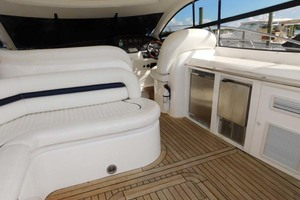 50' Sunseeker Camargue Hard Top with Sunroof 2002 Teak Sole Throughout Cockpit and Platform