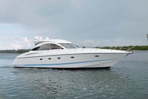 50' Sunseeker Camargue Hard Top with Sunroof 2002 Starboard Profile