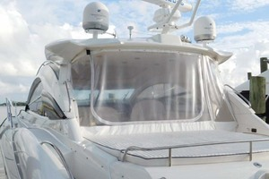 50' Sunseeker Camargue Hard Top with Sunroof 2002 Aft Eisenglass