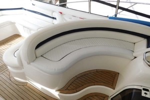 50' Sunseeker Camargue Hard Top with Sunroof 2002 Forward Cockpit Seating