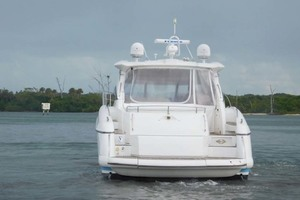 50' Sunseeker Camargue Hard Top with Sunroof 2002 Stern