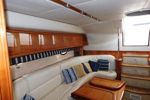 50' Sunseeker Camargue Hard Top with Sunroof 2002 Salon Looking Aft