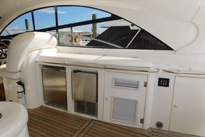50' Sunseeker Camargue Hard Top with Sunroof 2002 Cockpit Wet Bar