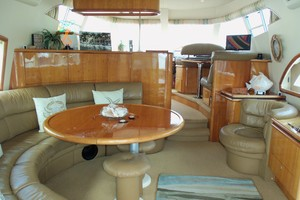 60' Neptunus Flybridge Motoryacht 1999 Salon Looking Forward
