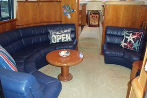 55' Neptunus Sedan Cruiser - 3 SR, TNT Lift 1999 Salon Looking Aft