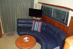 55' Neptunus Sedan Cruiser - 3 SR, TNT Lift 1999 Salon Couch Looking Aft