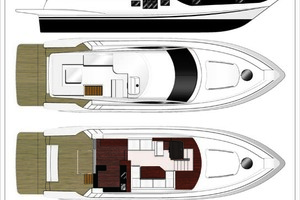 52' Dyna Flybridge 2019 Layout
