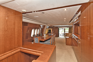 84' Princess 84 Flybridge  2006 Aft Salon View