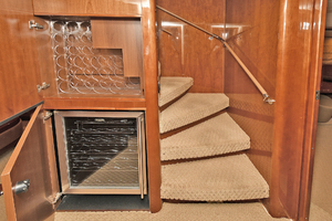 84' Princess 84 Flybridge  2006 Companionway Wine Cooler and Storage Rack