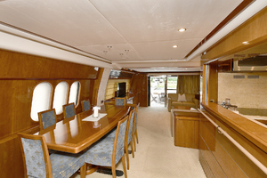 84' Princess 84 Flybridge  2006 Galley/ Dining Table