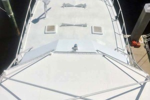60' Hatteras 60 Flybridge 1979 Foredeck from Tower