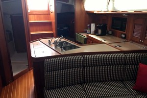 40' Sabre 402 2001 Galley and Salon