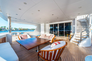 147' Sunrise  2014 Main Aft Deck