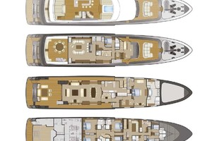 147' Sunrise Motor Yacht 2014 Layout