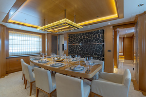 147' Sunrise Motor Yacht 2014 Dining Area