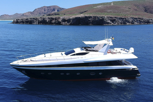 Solange II is a Rodriquez 80 Widebody Yacht For Sale in La Paz, Baja California Sur -Solange II Conam Rodriguez 2005 80' Widebody Portside Profile-46