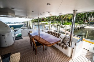 Horizon-Cockpit-Motor-Yacht-2008-Liberation-Stuart-Florida-United-States-Aft-Deck-Seating-1075371