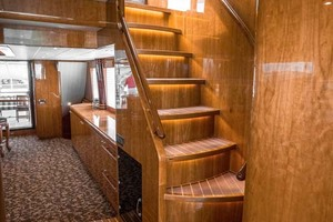 Horizon-Cockpit-Motor-Yacht-2008-Liberation-Stuart-Florida-United-States-Stairway-to-Enclosed-Bridge-1075334