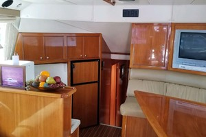 53' Riviera Convertible Sport Fisherman 2004 Salon Looking Aft