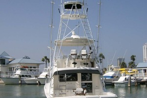 53' Riviera Convertible Sport Fisherman 2004 Stern Profile