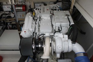 36' Bertram Moppie 1998 Engine Room