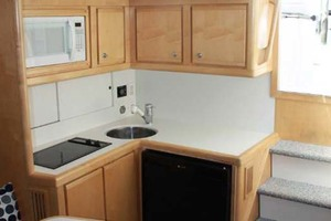 36' Bertram Moppie 1998 Galley