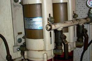 50' Grand Banks 50 Europa 1974 Engine Room_Dual Racor Filters