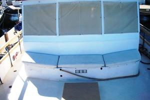 50' Grand Banks 50 Europa 1974 Seating & Storage in front of Pilothouse
