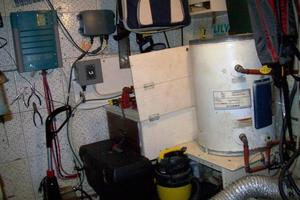 50' Grand Banks 50 Europa 1974 Engine Room_Hot Water Heater_Stbd