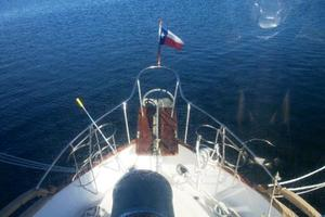 50' Grand Banks 50 Europa 1974 Foredeck View From Upper Helm