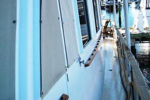 50' Grand Banks 50 Europa 1974 Side Deck Pilothouse Door Looking Aft_Port