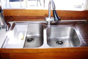 50' Grand Banks 50 Europa 1974 Galley SS Sinks