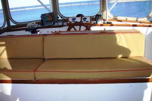 50' Grand Banks 50 Europa 1974 Flybridge Seats Facing Aft