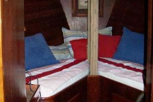 50' Grand Banks 50 Europa 1974 V-Berth with Storage Under Berth