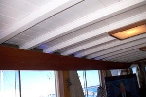 50' Grand Banks 50 Europa 1974 Ceiling Beams Exposed and Beautiful