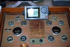 50' Grand Banks 50 Europa 1974 Pilothouse Helm & Instrumentation