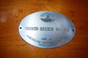 50' Grand Banks 50 Europa 1974 Builders Plaque: Hull 63 of 63