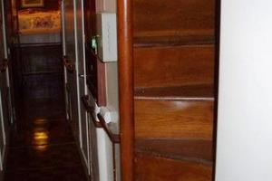 50' Grand Banks 50 Europa 1974 Staircase & Lower Hallway_Looking Aft