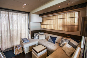 54' Azimut Flybridge 2014 Salon to aft and Port View