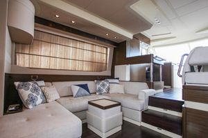 54' Azimut Flybridge 2014 Salon to Galley view