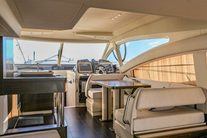 54' Azimut Flybridge 2014 View t Lower Helm from Salon